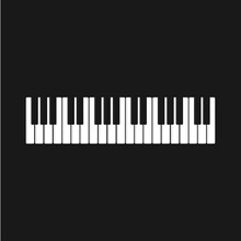Piano Logo Icon Vector Illustr...