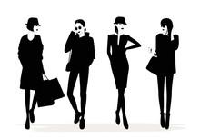 Fashion Stylish Women Silhouet...