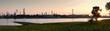 canvas print picture - Sonnenuntergang am Rhein