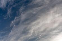 Dark Blue Sky With Clouds
