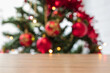 wooden background with christmas decoration