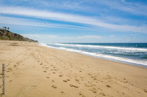 Fotografie, Obraz Zuma Beach, one of the most popular beaches in Los Angeles County in California