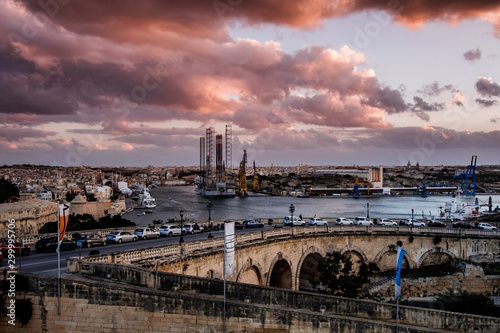 Recess Fitting Eastern Europe Valletta impressions right before sunset