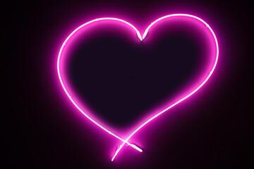 Illuminated florescent pink...