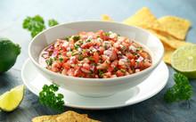 Mexican Tomato Salsa In White ...