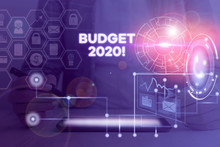 Word Writing Text Budget 2020....
