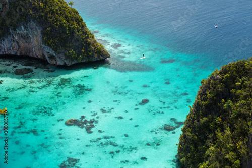 Poster Vert corail Picuresque landscape Wajag island, Raja Ampat, Indonesia