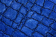 canvas print picture - Texture of blue artificial crocodile skin, as background. Wet crocodile skin.