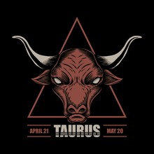 Taurus Zodiac Vector Illustrat...