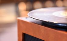 Tan Coloured Vinyl Record Play...