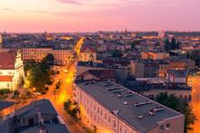 Sunrise Over Bydgoszcz, Panorama Of The City