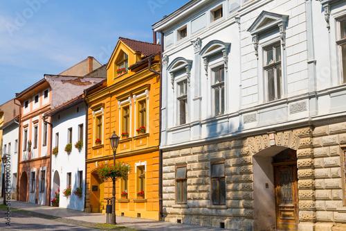 Old town Spisska Sobota, colorful houses . Poprad, Slovakia