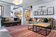 canvas print picture - Modern interior design - livingroom