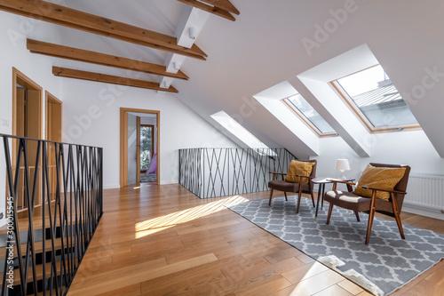 Fototapeta Modern interior design - garret