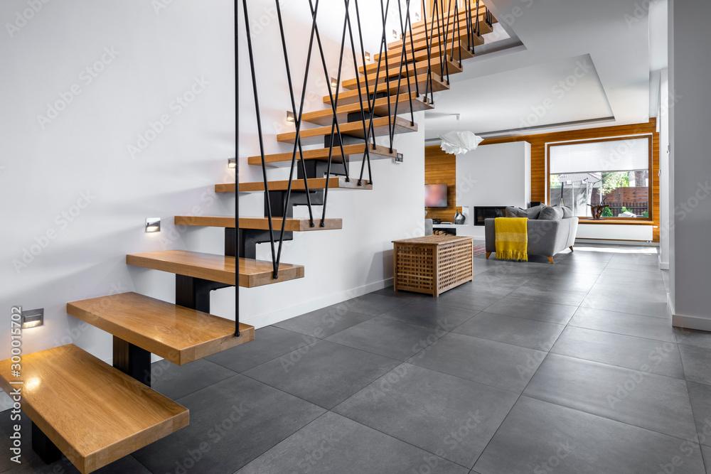 Fototapeta Modern interior design - stairs
