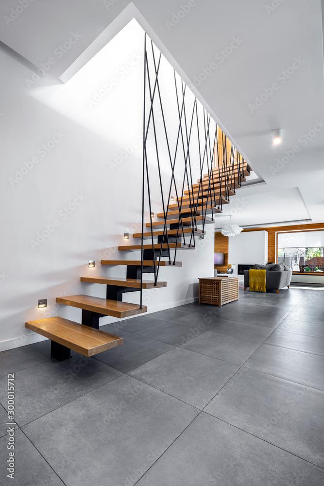Fototapety, obrazy: Modern interior design - stairs