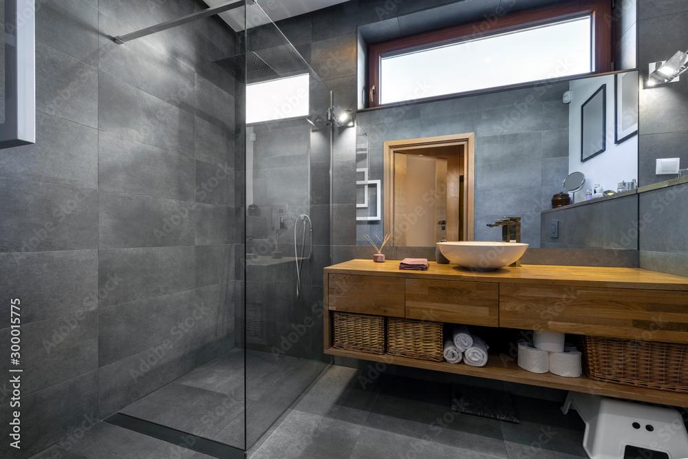Fototapeta Modern interior design - bathroom