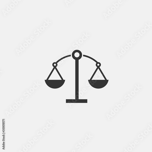 Cuadros en Lienzo  weighing scale vector icon flat isolated sign