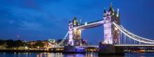 Tower Bridge At Night, London,...