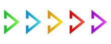 Colorful Arrows - Vector.