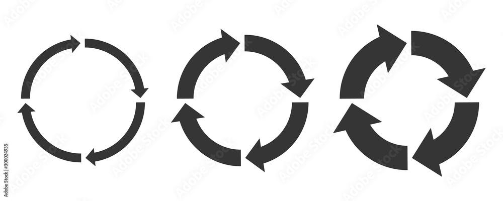 Fototapety, obrazy: Circle arrows - vector.