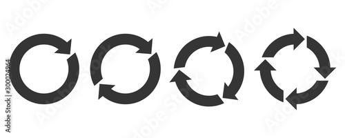 Fotografie, Obraz Circle arrows - vector.