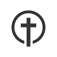 Christian Cross Icon - Vector.