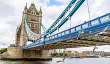 Tower Bridge In London At Clou...