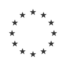 Vector Illustration Of The EU Flag Stars.