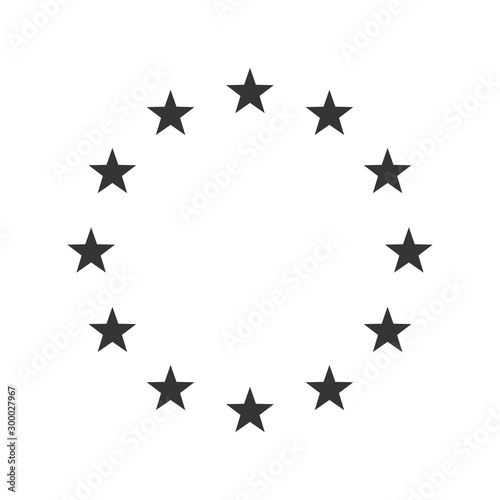 Vector Illustration of the EU flag stars. Canvas