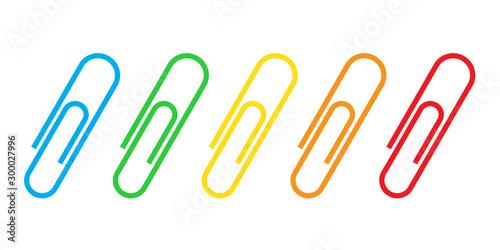 Cuadros en Lienzo  Paper clip icon - vector.