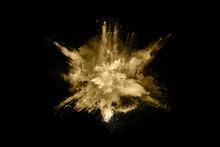 Golden Powder Explosion On Bla...