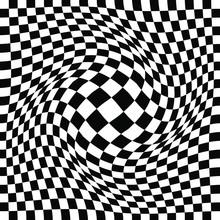 Distorted Checker Board. Op Ar...