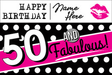 50 And Fabulous Birthday Card,...
