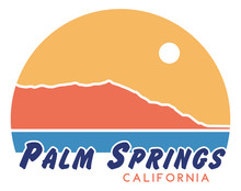 Palm Springs Retro T-Shirt Design | Vintage California Shirt Illustration | Vector 70s Sunset Graphic