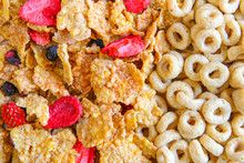 Variety Of Breakfast Cereal Background