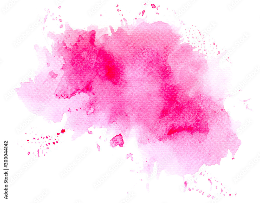 Fototapety, obrazy: abstract watercolor background.splash color pink on paper.