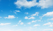 Leinwanddruck Bild - blue sky with white cloud landscape background