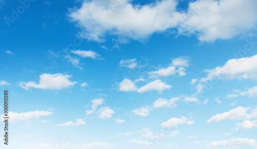 blue sky with white cloud landscape background Canvas Print