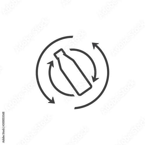Carta da parati shake bottle arrow line symbol vector