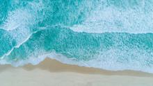 Aerial Shot Of Waves Breaking ...