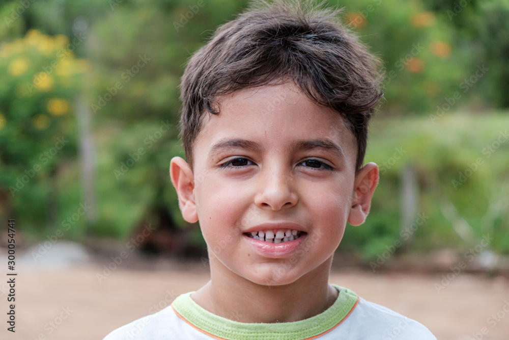 Fototapety, obrazy: Portrait of a boy outdoors at the day time. Handsome. Young Boy Portrait.