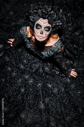 black lace dress for Muerta Wallpaper Mural