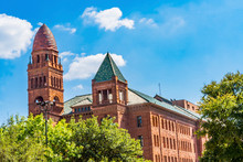 Red Bexar County Courthouse Sa...
