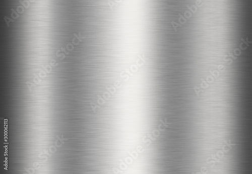 Stainless steel metal surface background or aluminum brushed silver texture with reflection Canvas Print