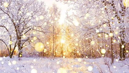 śnieżna panorama zimowego krajobrazu