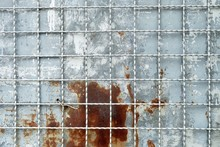 Texture Background Of Matalic Steel Grating