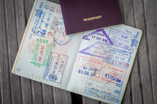 Stamps In A Passport, Travel L...