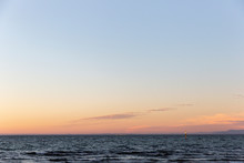 Stunning Sunset Falling Over Port Phillip Bay, Victoria, Australia.