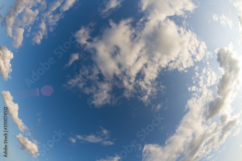 Fototapeta  White clouds on the blue sky